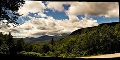 Rock Climbing Photo: View of the height of land in Evan's Notch.  bagle...