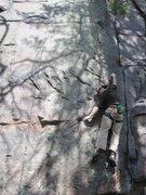 Rock Climbing Photo: First crux.