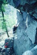 Rock Climbing Photo: Old school shot of direct. Photo from the Prunes C...