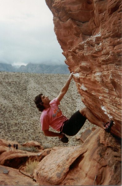 Jeff Laina Bouldering Some V-Easy at The Gallery 1990s.