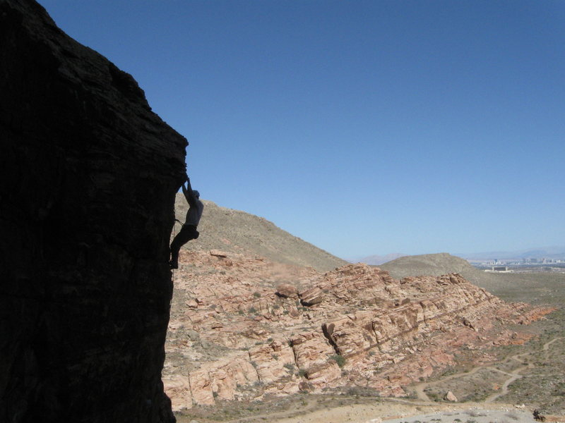"Rock Climbing Photo: Climbing 'Driling Miss Daisy"" in Red Rock, NV"