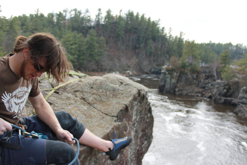 Rock Climbing Photo: First Wisconsin send