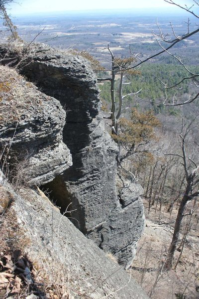 Rock Climbing Photo: Nice texture on the Coeymans limestone