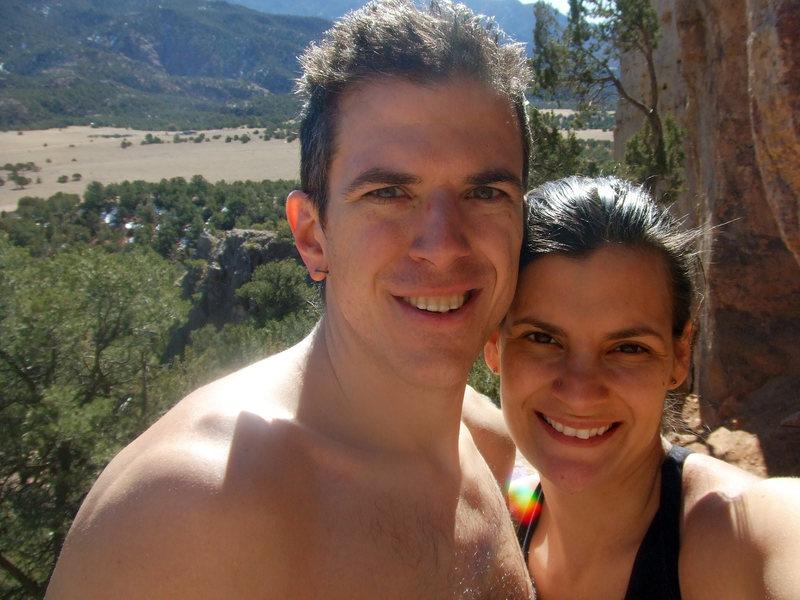 Rock Climbing Photo: Christian and I at Shelf Road, CO