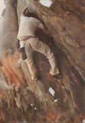 Rock Climbing Photo: City Ordinance Crack 5.11+ 1980s.