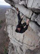 Rock Climbing Photo: Ryan on the last roof.