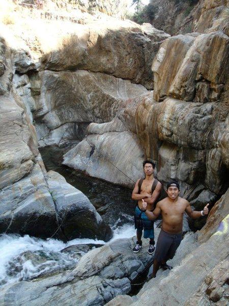 Rock Climbing Photo: Sapphire Falls (Free water solo)