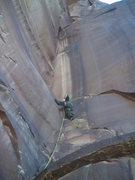Rock Climbing Photo: Carson on pitch 1.