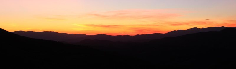 Sunset at Texas Canyon.<br> Photo by Jonathan Burnham