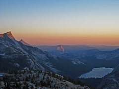 Rock Climbing Photo: Sunset from the top of Mariuolumne Dome after an e...