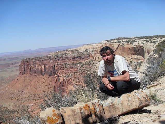 Me on top of the Indian Creek Canyon, UT