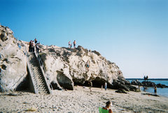 Rock Climbing Photo: Bouldering Tin Man on a Gorgeous day at The Beach....