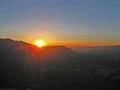 Rock Climbing Photo: Sunset from the top of Mariuolumne Dome after an O...