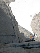 Rock Climbing Photo: Miranda on one of the early pitches of Sunspot (1 ...