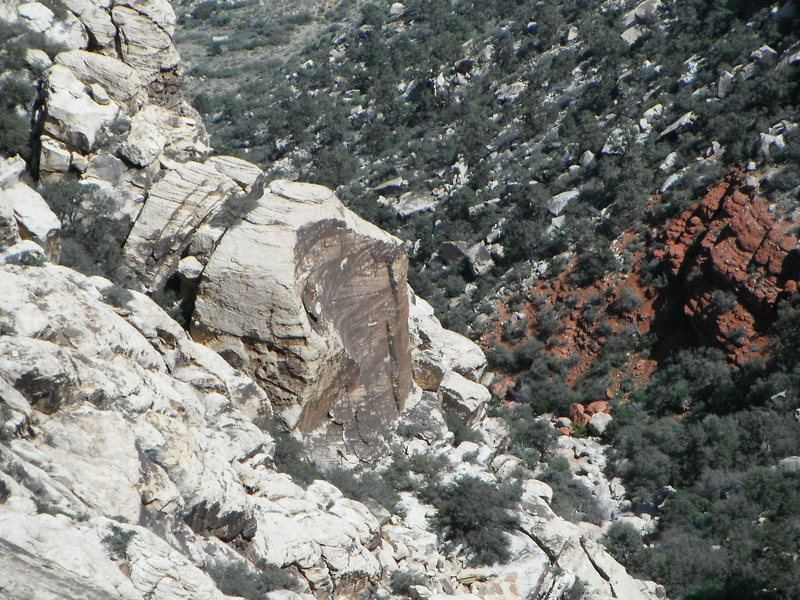 "The Offset corners ""Boulder"" from the Black arch wall."