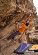 Rock Climbing Photo: On the backside of the Plethora Boulders is this f...