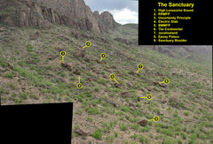 Rock Climbing Photo: The view from the ridge with some boulders/problem...