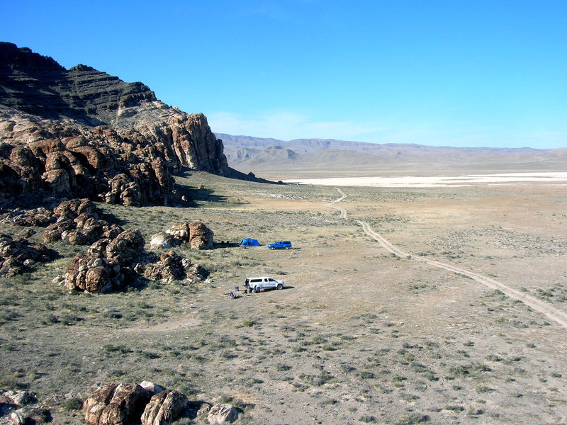 """Corral camping area from the """"S and L Tower"""""""