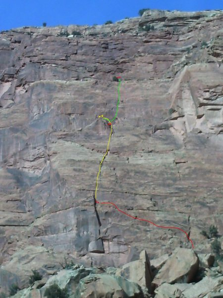 Manic Monday.  The rappels are in red.