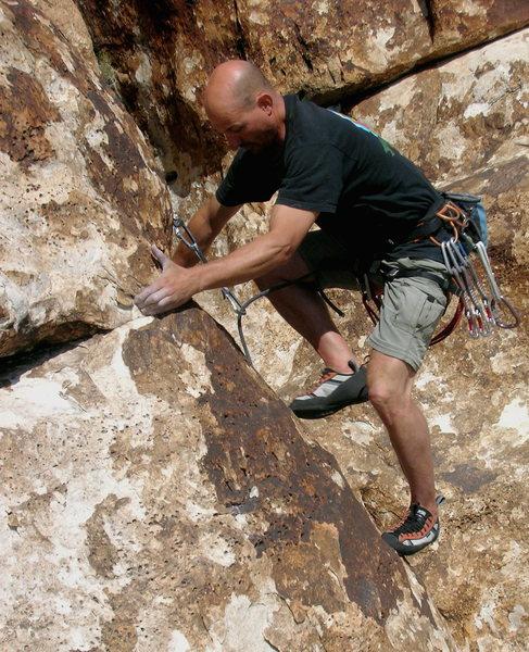 Slabtastic climbing near the Corral.