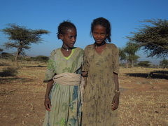 Rock Climbing Photo: Nice Tigray kids who followed us up into the deser...