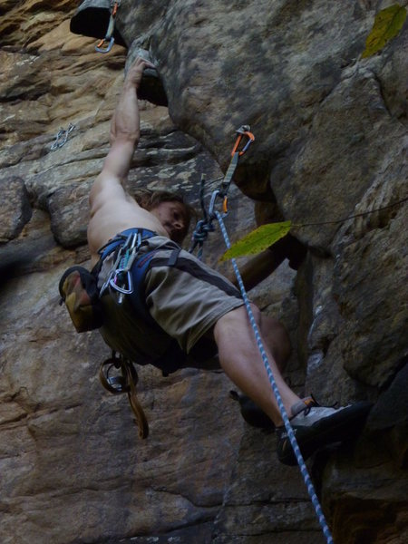 Rock Climbing Photo: Zarrin on sighting this route!