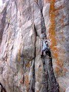 Rock Climbing Photo: Mid route on Conan.