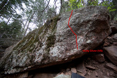 Rock Climbing Photo: The line up this really sick route, Gully Diver. I...