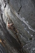 Rock Climbing Photo: Enzo Oddo working Jaws II.