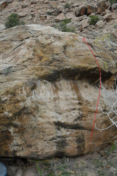 Rock Climbing Photo: Route for Firestone.
