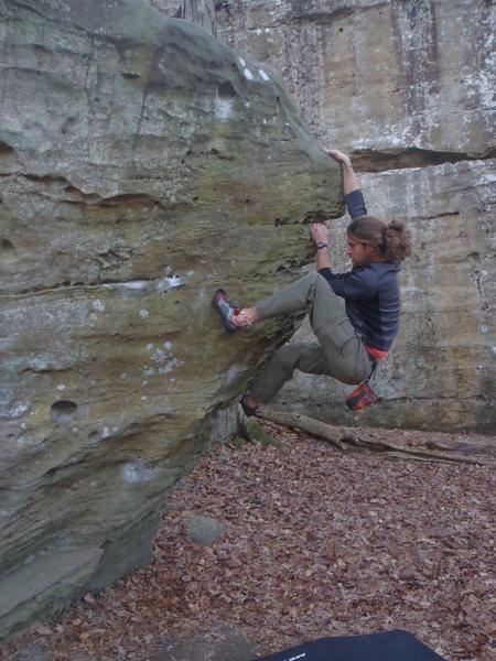 Rock Climbing Photo: Bouldering at Jackson Falls