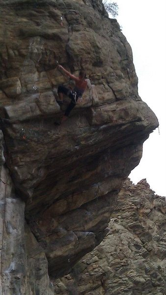Rock Climbing Photo: Hot Dog