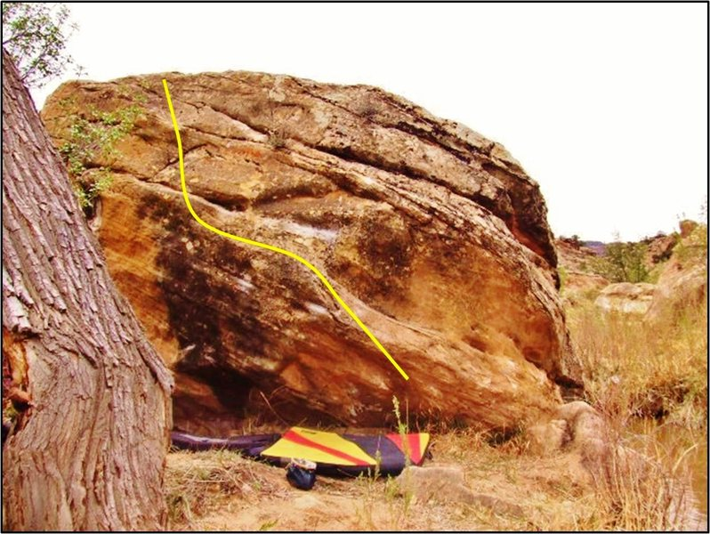 Rock Climbing Photo: Spare Tire problem on the Rubber Rock.