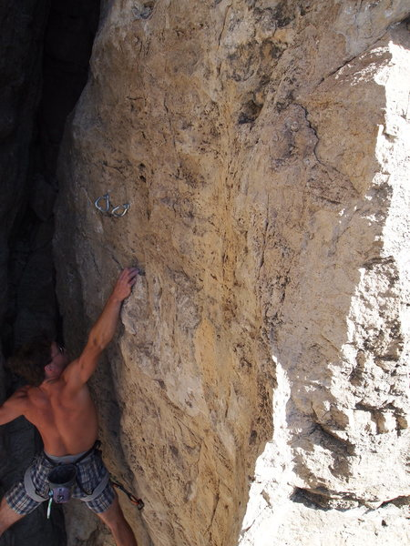 Rock Climbing Photo: Stampe with a dynamic finish on Twist One