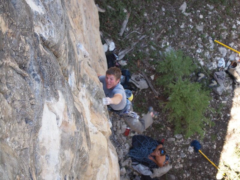 Rock Climbing Photo: Joel gettin gaysted on Too Drunk To Huck