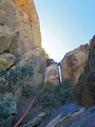 Rock Climbing Photo: Chris bridging the chasm between CFT and Mt. Wilso...