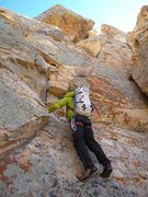 "Rock Climbing Photo: Blake on one of the scrambly ""boulder problem..."