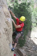 Rock Climbing Photo: Did I send?  No...and I blame the helmet.  This cl...