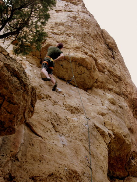 Rock Climbing Photo: This is what the climb looks like from the ground....