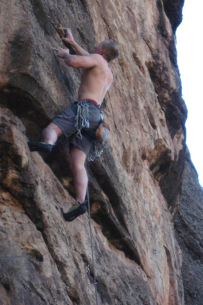 Rock Climbing Photo: Adam Sinner making it look casual while giving us ...
