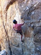 "Rock Climbing Photo: Mike working ""Michangelo"". 1/3"