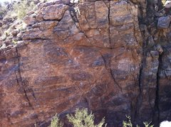 Rock Climbing Photo: The upper half of the wall as seen from the top of...