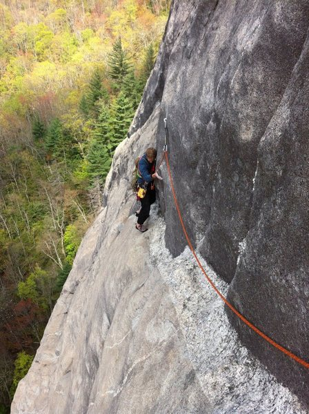 Rock Climbing Photo: End of pitch 3 just past forbidden fruit