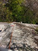 Rock Climbing Photo: Pitch 1 arete
