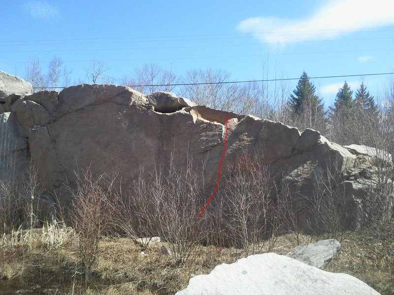 Rock Climbing Photo: Rotten rock V0