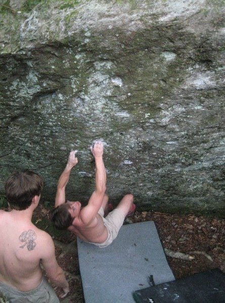 some bouldering in boone NC