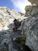 Rock Climbing Photo: chinard route on the Middle Teton