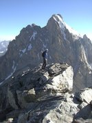 Rock Climbing Photo: summit of the Middle Teton via the SE route