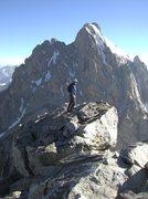 Rock Climbing Photo: summit of the Middle Teton via the SE route