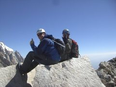 Rock Climbing Photo: summit of the south teton